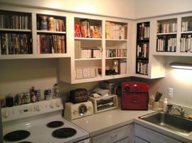 キッチン,作り付け,棚,ガラス食器戸棚
